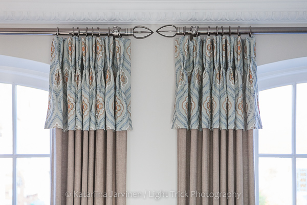 two fabric curtains