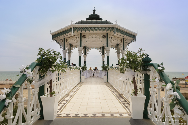 Brighton Bandstand wedding