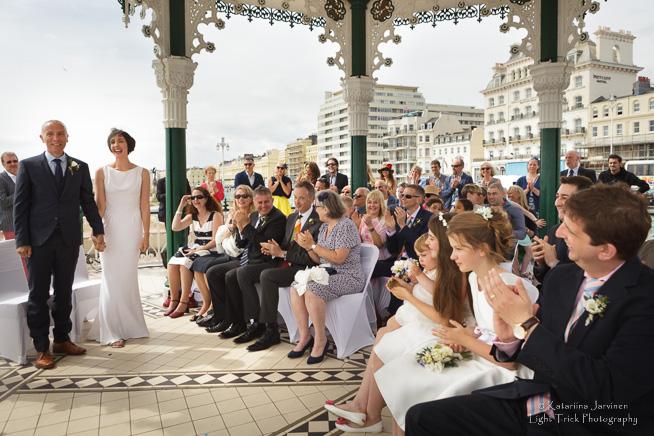 wedding at Brighton Bandstand