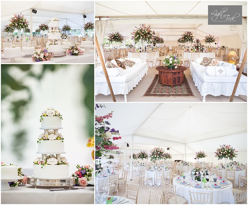 stunning wedding marquee