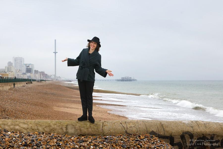 Portrait at Brighton beach