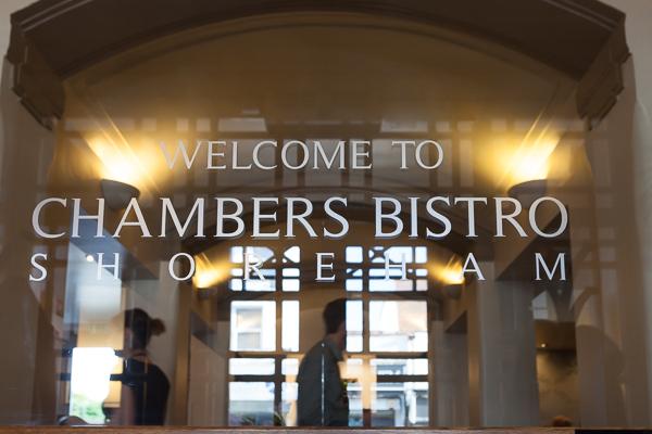 Chambers Bistro Shoreham restaurant by http://lighttrick.co.uk