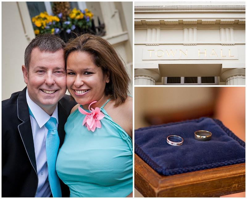 civil wedding at Brighton Town Hall