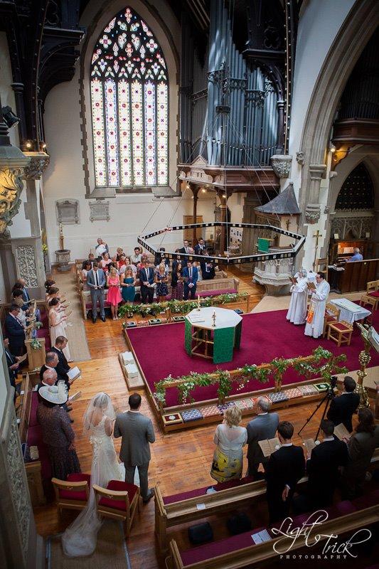 wedding at St John's Church, Palmeira Square, Hove