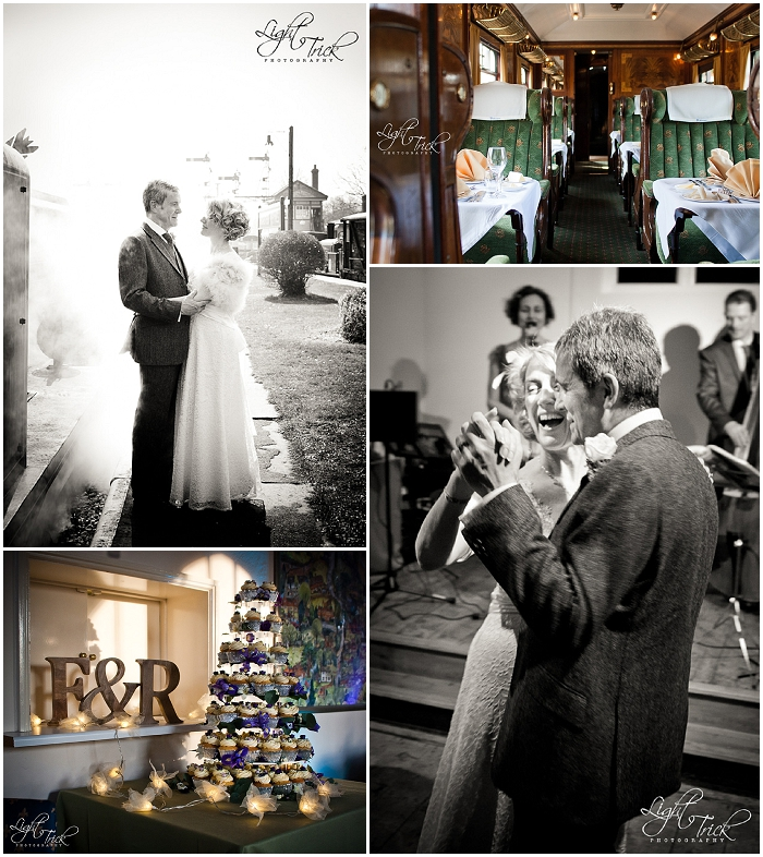 Bluebell Railway wedding, steam train