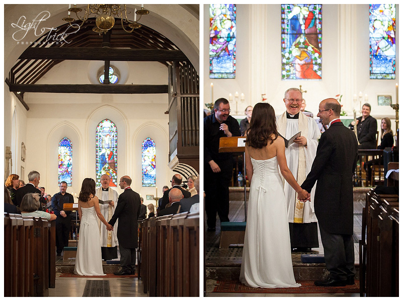 wedding ceremony at St Anne's Church in Lewes, East Sussex