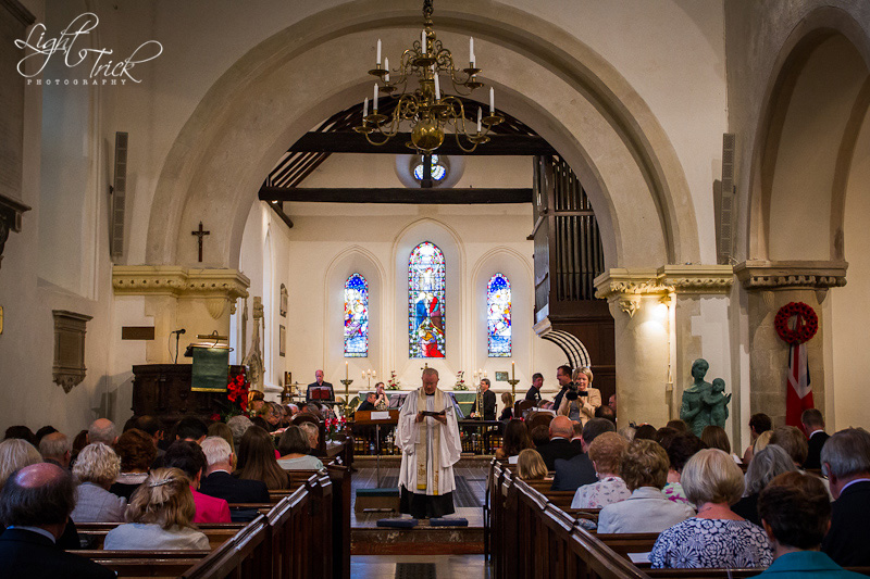 wedding service at St Anne's Church in Lewes, East Sussex