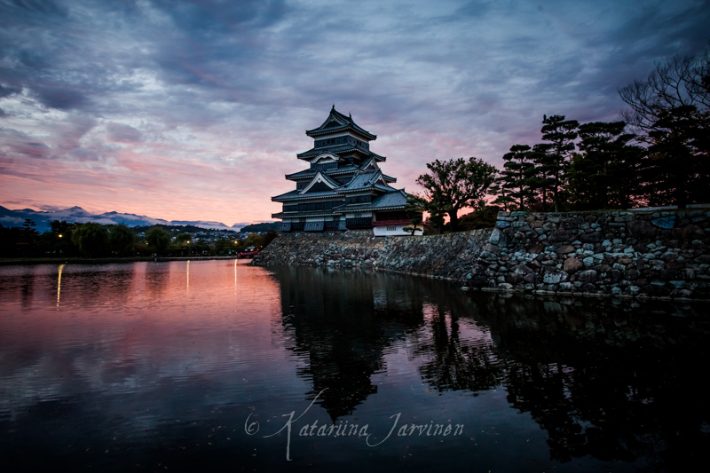 Matsumoto Castle at sunset