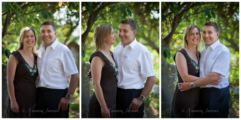 engagement photo shoot in a churchyard