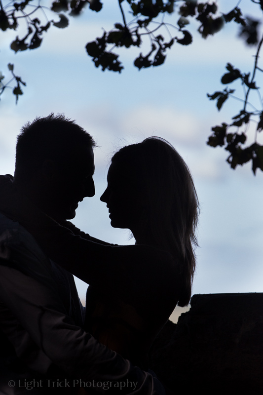 engagement photo shoot - silhouette of a couple