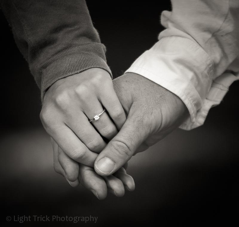 engagement ring - pre-wedding photo shoot