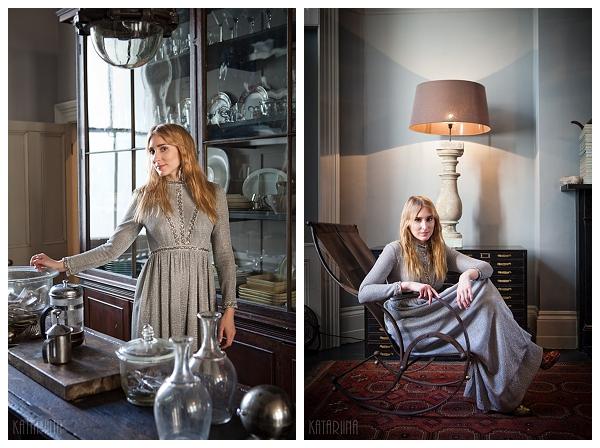 location portrait shoot antique furniture