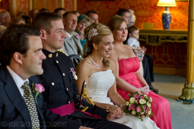wedding ceremony in The Red Drawing Room at Royal Pavilion