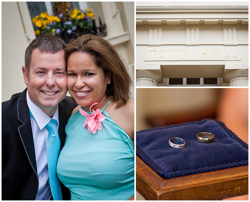 civil wedding at Brighton Town Hall