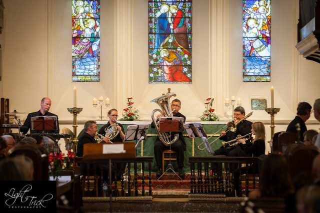 Musicians at St Anne's Church in Lewes