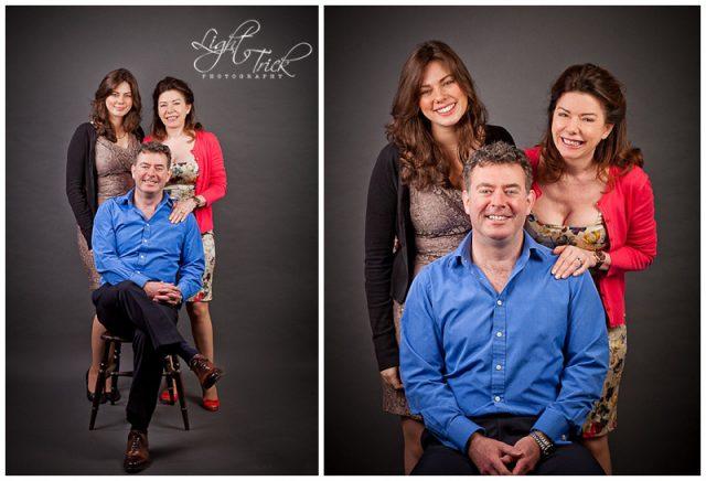 family portrait taken in a studio