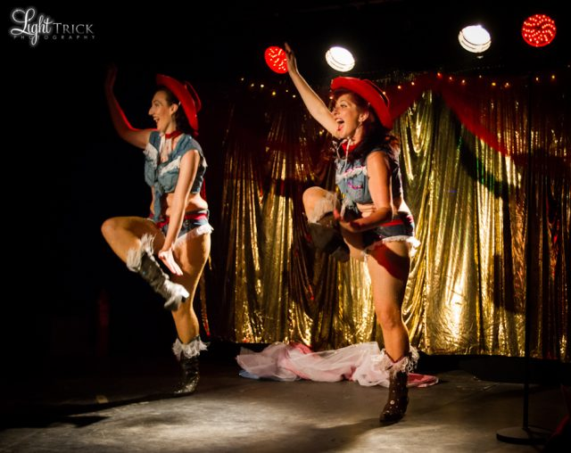 The Sweet Tease performing burlesque at The Forum in Tunbridge Wells