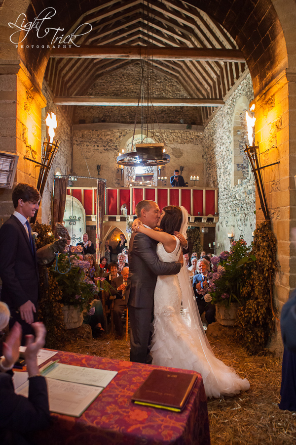 wedding couple kiss in embrace