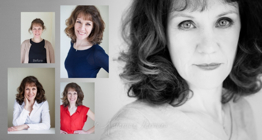 makeover photo shoot - before and after beauty portrait