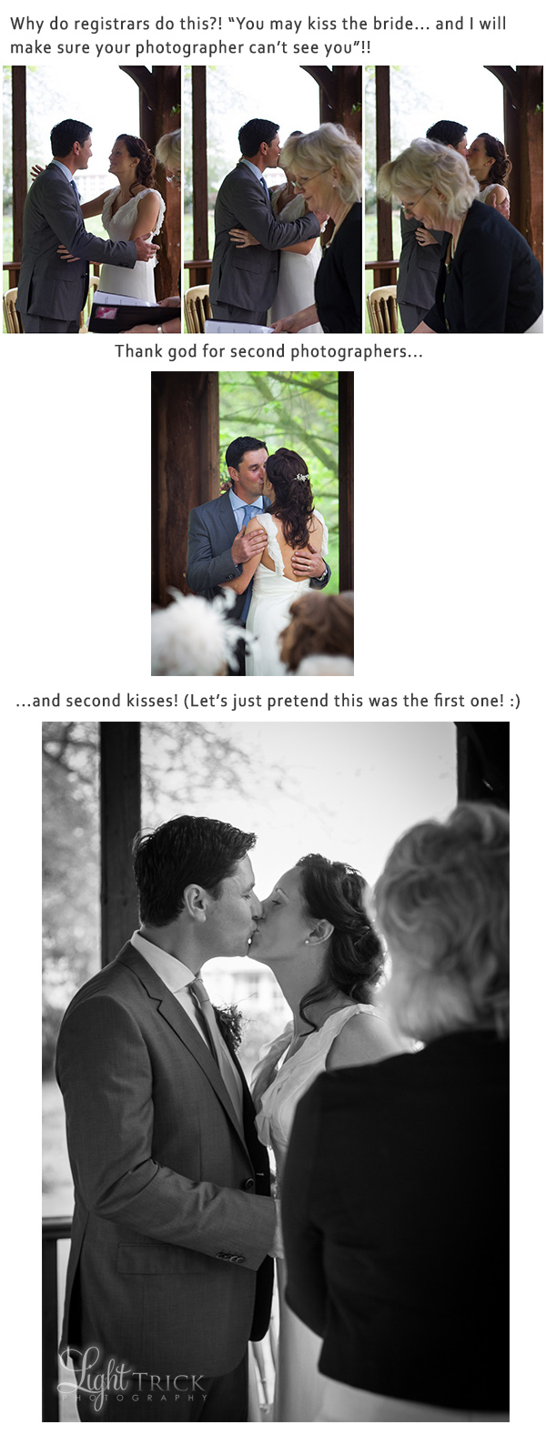 wedding photographer misses first kiss