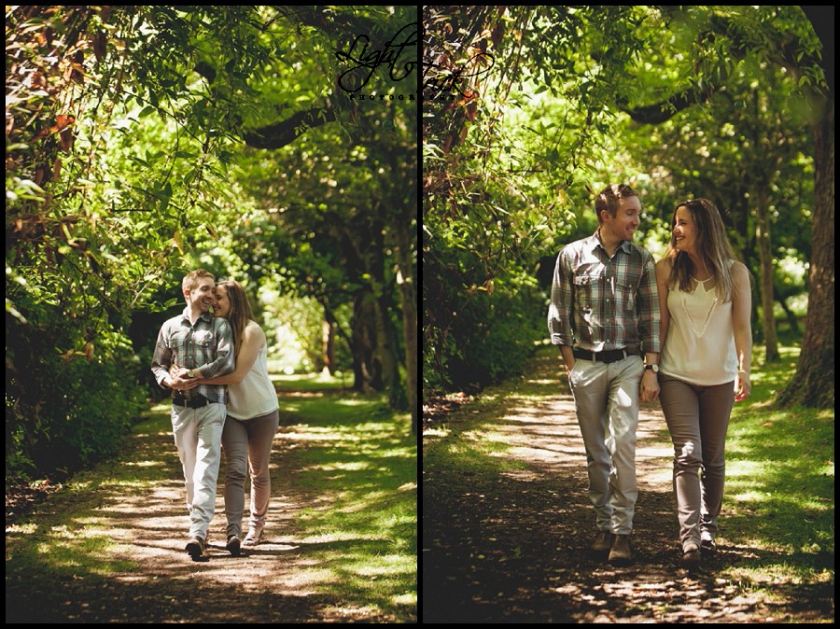 engagement photo shoot in Highdown Hill Gardens