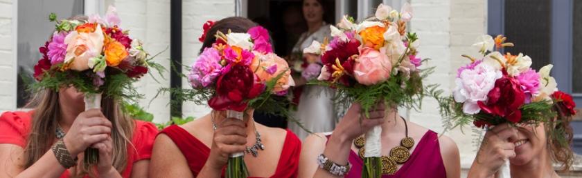 quirky bridemaids bouquet photo