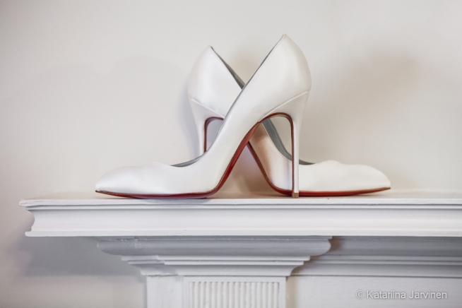 Christian Louboutin stilettos wedding shoes