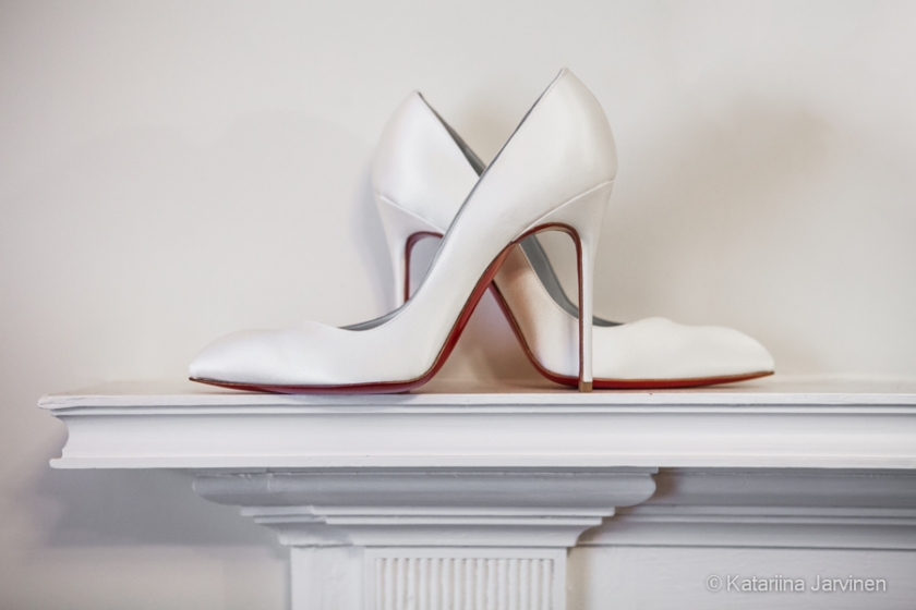 Christian Louboutin stilettos wedding shoes