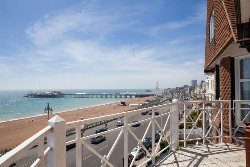 Brighton seaside hotel balcony room view