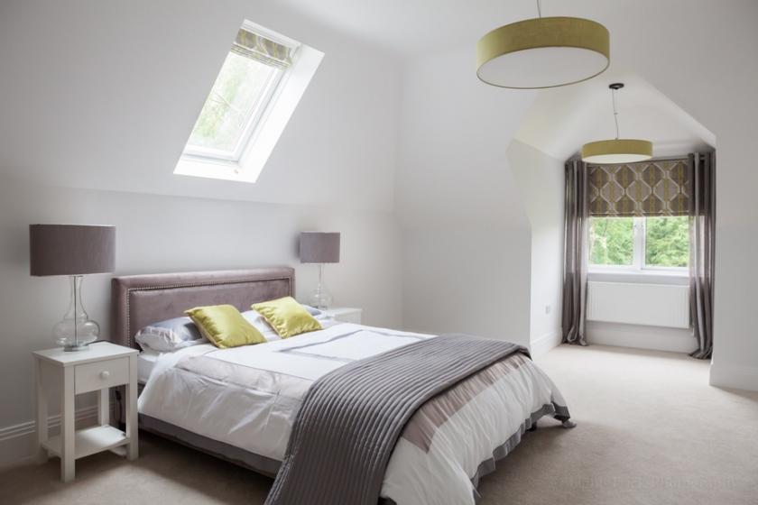 interior photography bedroom skylight