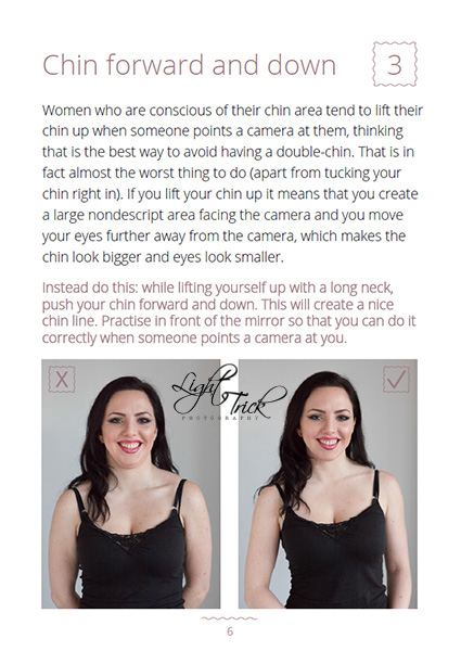 how to avoid double-chin in photos