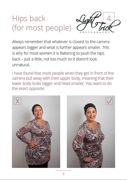 best poses for portrait tip smaller hips