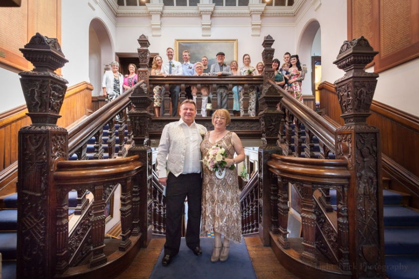 Lewes Town Hall wedding staircase
