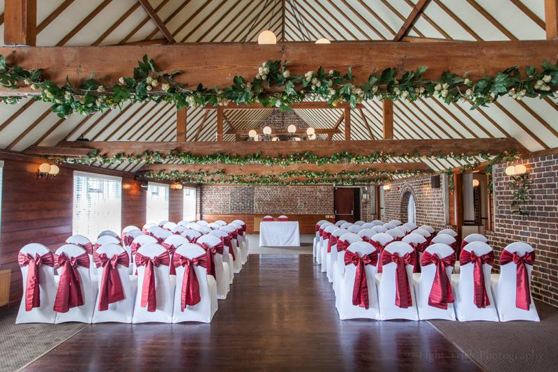 Hop Farm wedding ceremony room