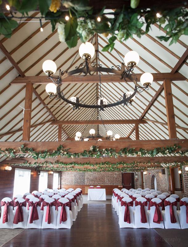 Hop Farm wedding ceremony room photos