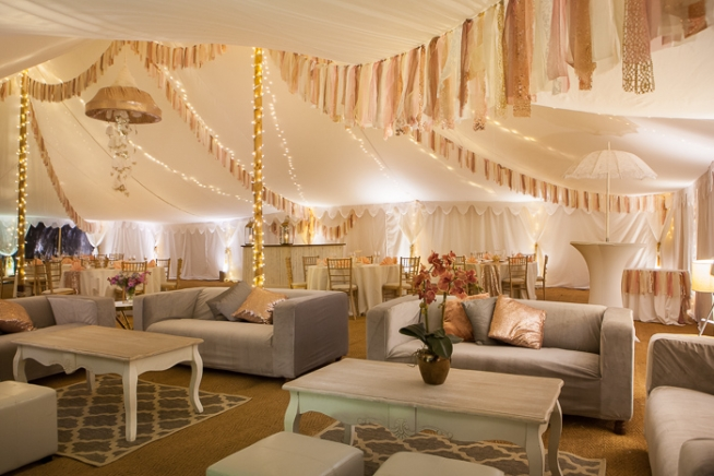 luxury party marquee lounging area