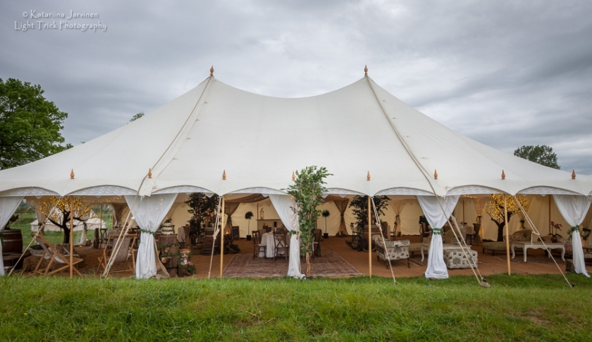 Woodland wedding marquee
