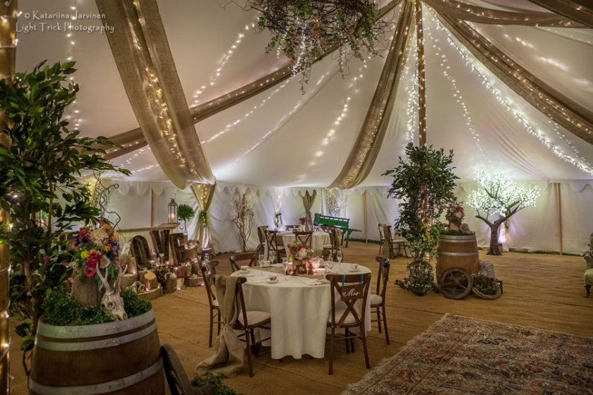 woodland theme wedding venue