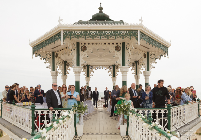 Brighton Bandstand wedding 90 guests