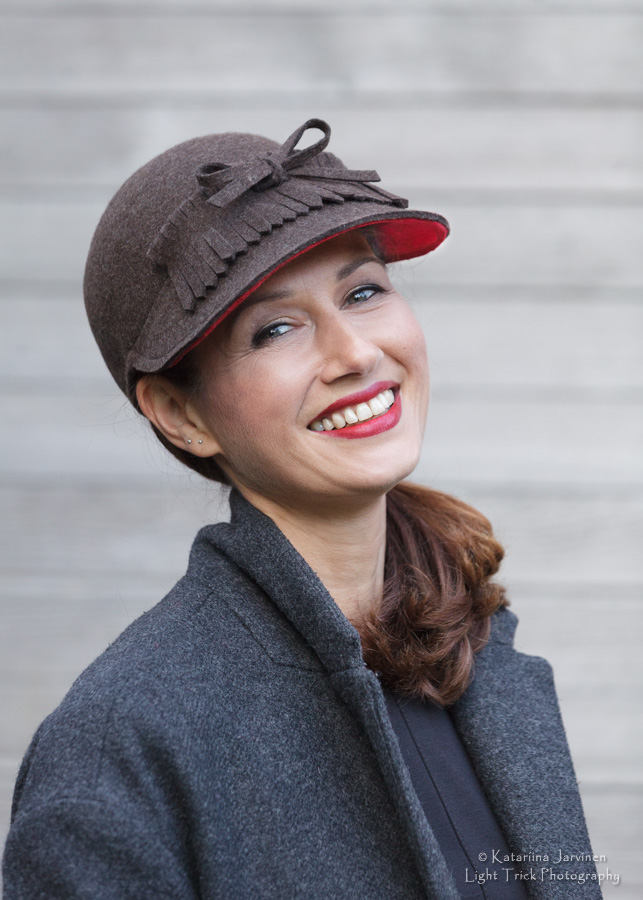 hat model for Joanna Zara Millinery